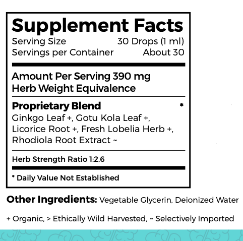 Dr. green Mom Focus & Attention Ingredients