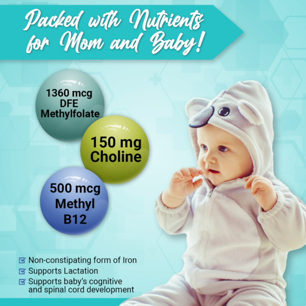 Prenatal Vitamins with Choline and Folate