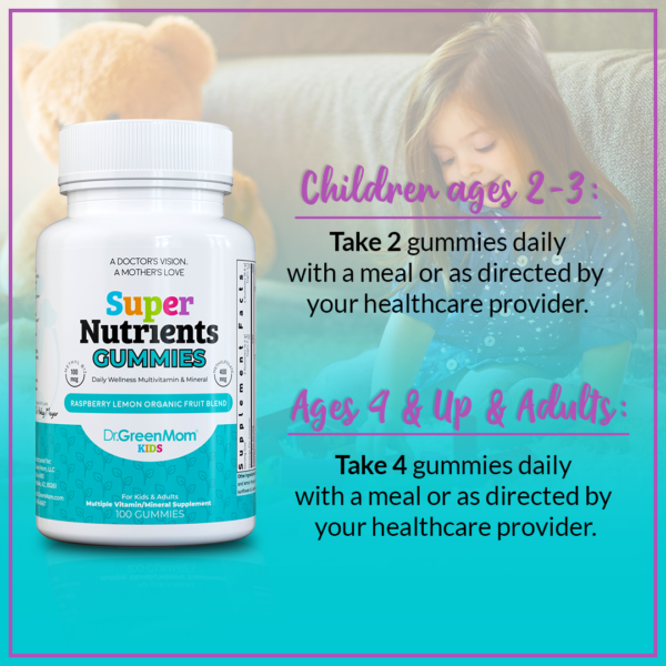 Super Nutrients Multivitamin for Kids and Adults by Dr. Green Mom